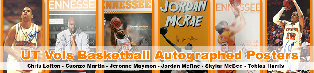 UT Men's B-Ball Autograph Posters