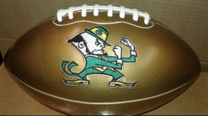 gold norte dame football